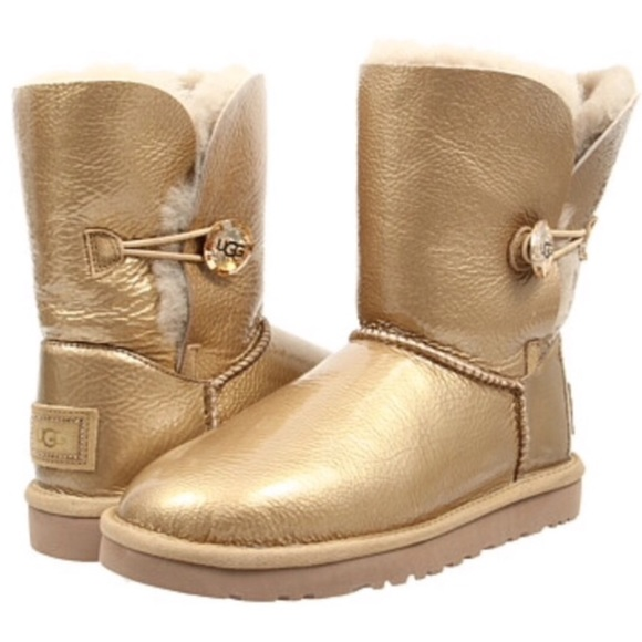 b776ceaaab0 UGG Gold Bailey Button Mirage Boots NWT